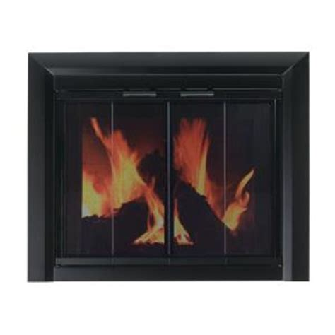 pleasant hearth clairmont small glass fireplace doors cm