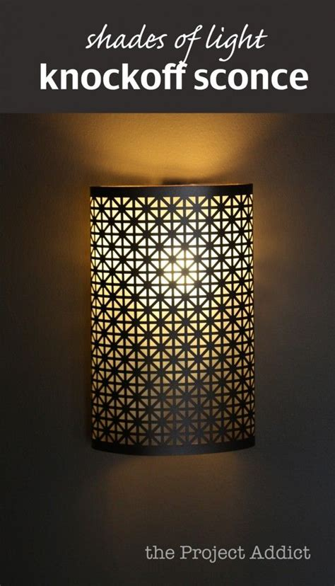 Diy Wall Sconce Light Shades Light Knockoff Sconce Diy Craft Color Paint Pinterest