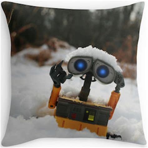 Wall E Pillow by Wall E In The Snow Throw Pillow