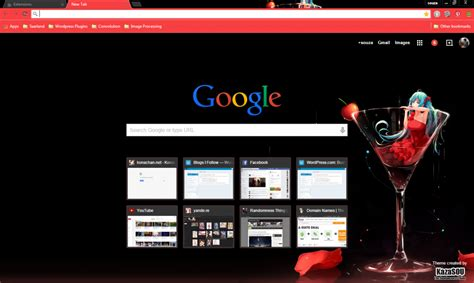 theme chrome red 15 of the best anime google chrome themes ever brand thunder