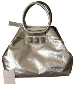 Marc Large Shiny Plastic Tote by Marc Cruise Collection Silver Metallic 77