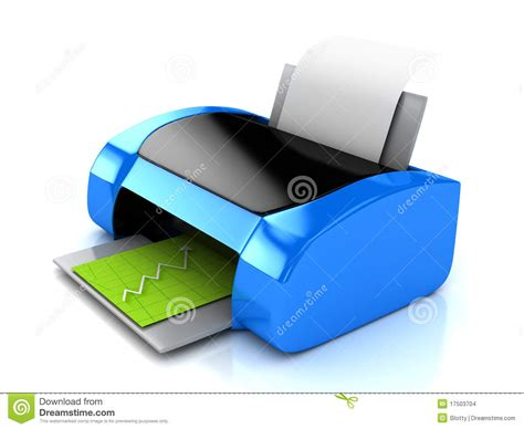 3d Blue Printer Over White Stock Images Image 17503704