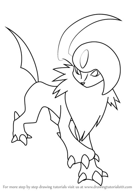how to draw learn how to draw absol from step by
