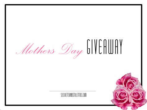 The Doctorstv Com Word Of The Day Giveaway - mothers day giveaway secrets and stilettos