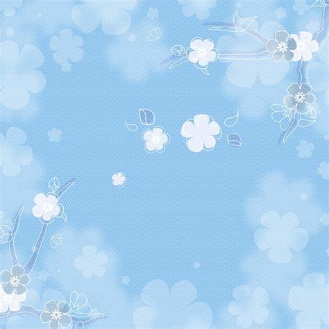 illustration blue background flowers vintage