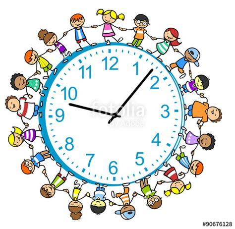 Kinder Uhr by Quot Viele Kinder Um Eine Uhr Herum Quot Stockfotos Und
