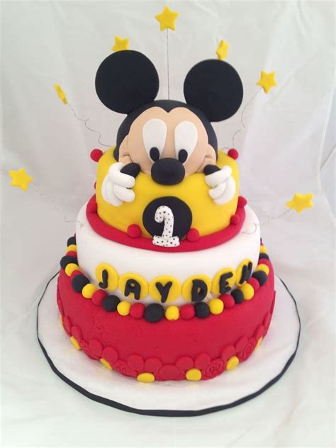 Mickey Mouse Cake Decorations by Mickey Mouse Edible Cake Plaque Topper Decoration