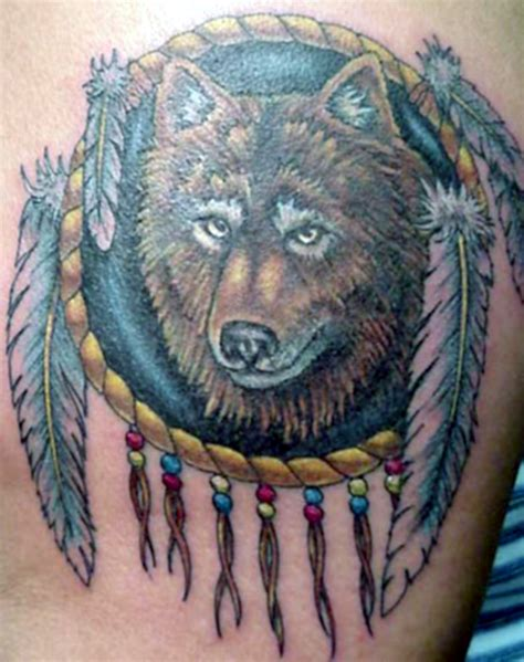 wolf and dreamcatcher tattoo catcher images designs