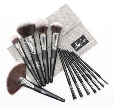 12pcs Professional Black Brushes Set high quality professional makeup brushes 12pcs set