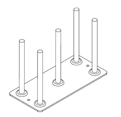 Pin Rack by Metsec Cable Management Tpr 050 050 Pg Pin Rack For Trunking 50x50mm Pre Galvanised