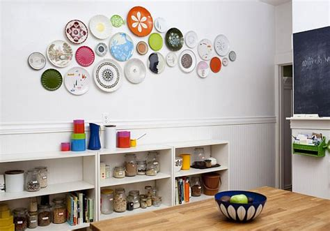 plates to hang on kitchen wall how to hang plates on a wall to create an eye catching look