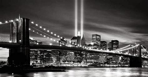 york city  night black  white desktop wallpapers