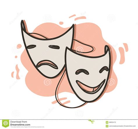 expression cartoons illustrations vector stock images opera masks stock vector illustration of smile