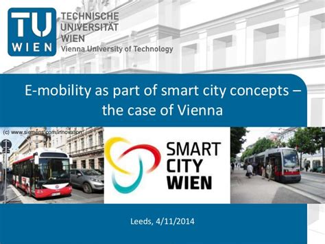 smart city use cases smart city studies and development notes books e mobility as part of smart city concepts vienna study