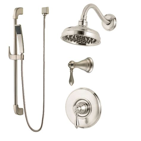 Brushed Nickel Shower System by Pfister B89 7mbk Brushed Nickel Marielle Shower System