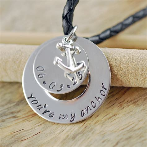 mens sted necklace mens personalized jewelry