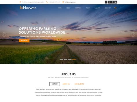 free bootstrap templates for agriculture in harvest free bootstrap agriculture template freemium