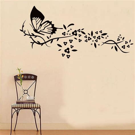 wall decal look butterfly wall decals walmart purple