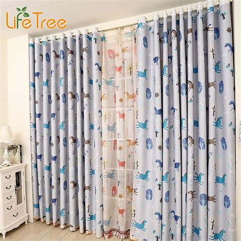colorful drapes curtains colorful horse printed children bedroom blackout curtain