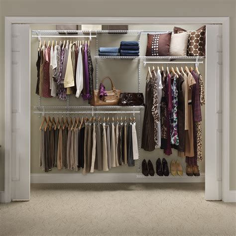 Closetmaid Closet Accessories Closetmaid Shelftrack 5 8 Ft Closet Organizer Kit Wire