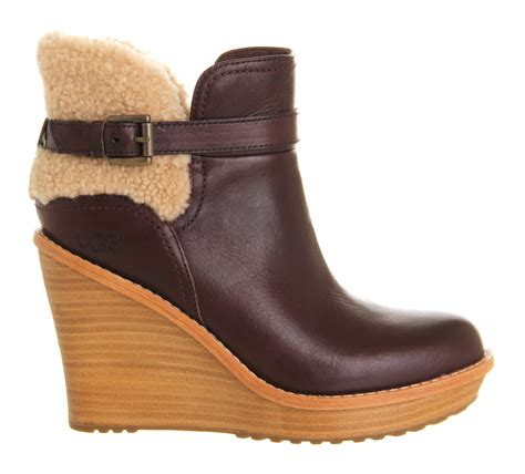 ugg anais wedge ankle boots in lyst