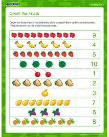 count fruits printable counting worksheet jumpstart
