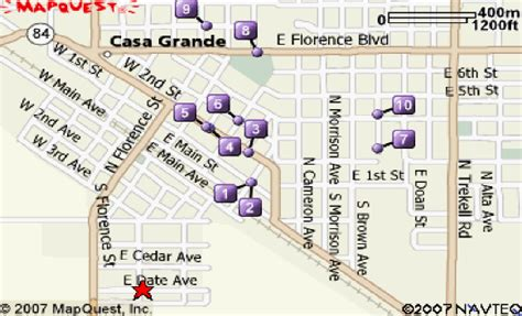 map of casa grande arizona directions to living waters chur