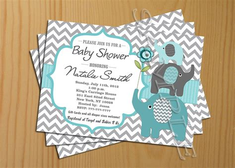 free printable elephant baby shower invitations free printable baby shower invitations only
