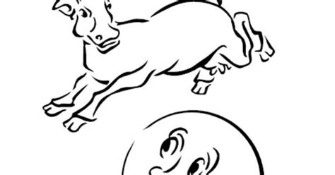 cow jumping coloring page the cow jumped over the moon coloring page kids coloring