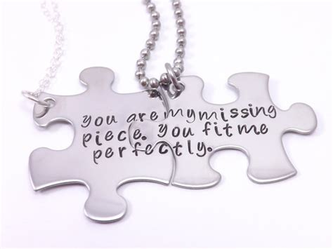 popular items for the missing piece on etsy personalize your own his and her puzzle piece by