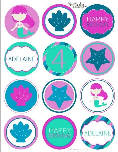 printable mermaid party decorations 5 best images of mermaid birthday printables free