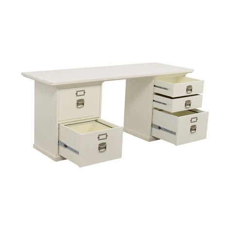 pottery barn white desk 76 off pottery barn pottery barn bedford white desk