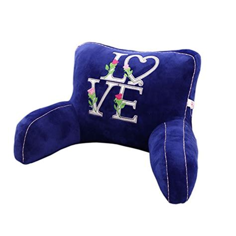 kids bed rest pillow with arms royal blue letters love bed rest pillow with arms lumbar