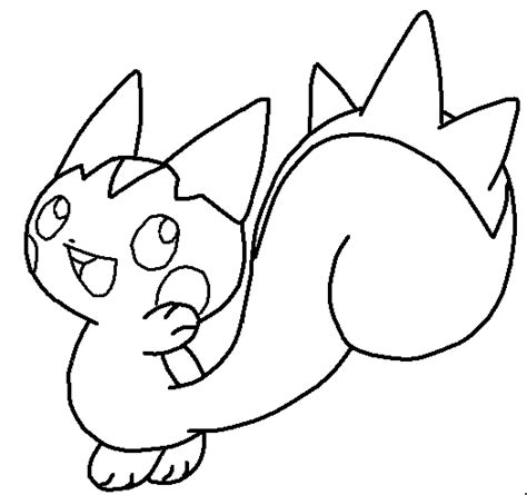 pokemon coloring pages pachirisu pachirisu base by 254mewx on deviantart