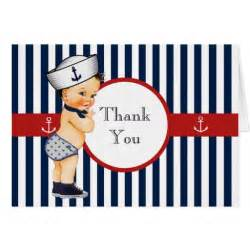 nautical ahoy it s a boy baby shower thank you card zazzle