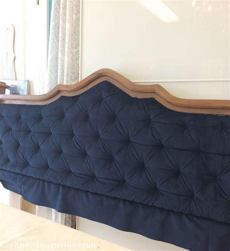 blue tufted bed diy blue tufted headboard cre8tive designs inc