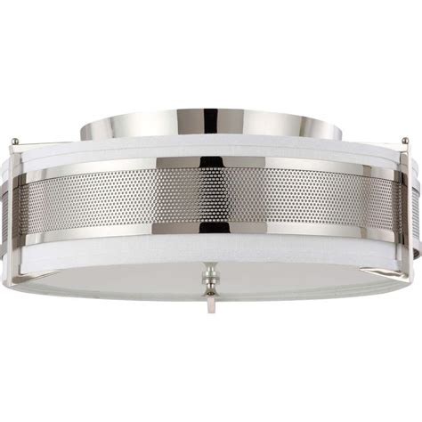 polished nickel flush mount ceiling light glomar 4 light polished nickel incandescent ceiling