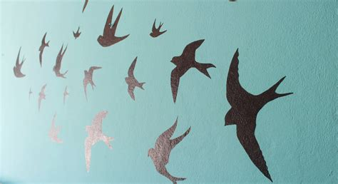 flying swallows wall art