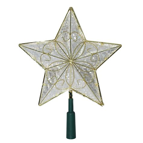 trim a home 174 led christmas tree topper star gold