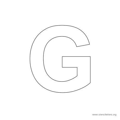 letter g template uppercase arial stencil letter g projects to try