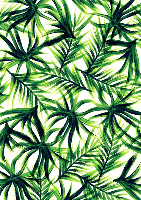 background pattern trees tropical leaf wallpaper wallpapersafari