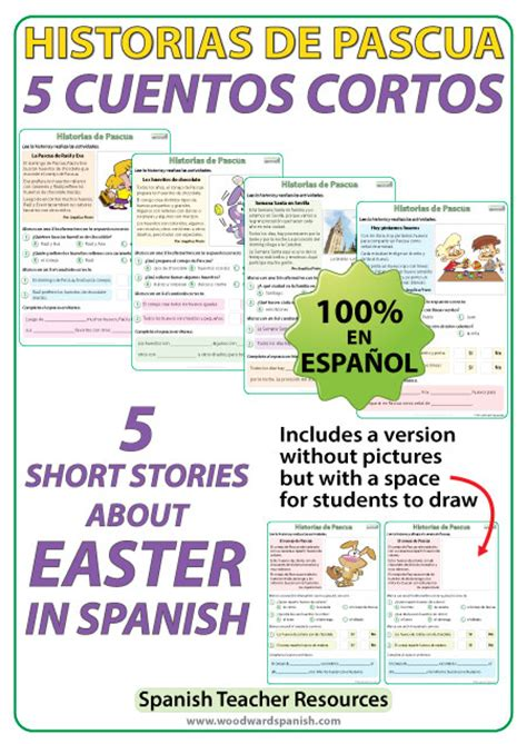 spanish short stories cuentos spanish easter short stories cuentos cortos de pascua woodward spanish