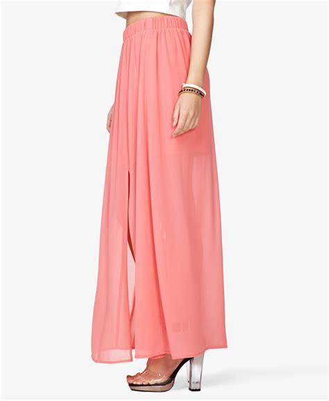 semi sheer maxi skirt forever21 fashion