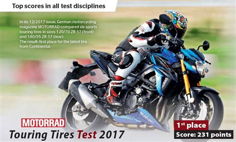 Motorrad Tyre Test 2017 by Contiroadattack 3 Is Chosen As The 2017 Best Sport Touring