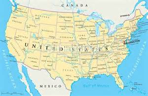 view us map with cities united states of america political map vector thinkstock