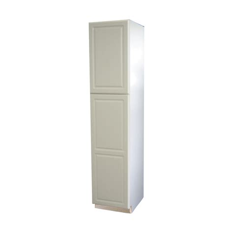 Lowes Kitchen Pantry Cabinets Shop Now Concord 18 In W X 84 In H X 23 75 In D White Door Pantry Cabinet At Lowes