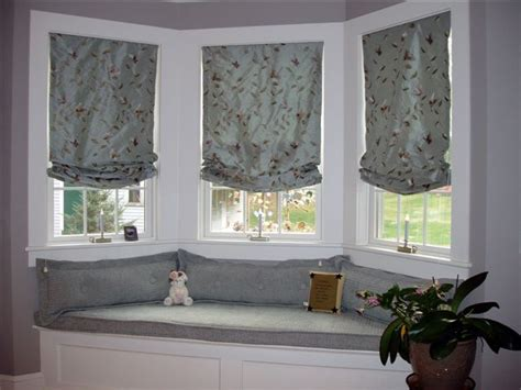 window seat window treatments window seat area with custom pillows seating and