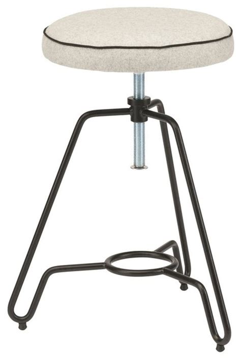 Adjustable Vanity Stool by Adjustable Stool In Black And Grey Vanity