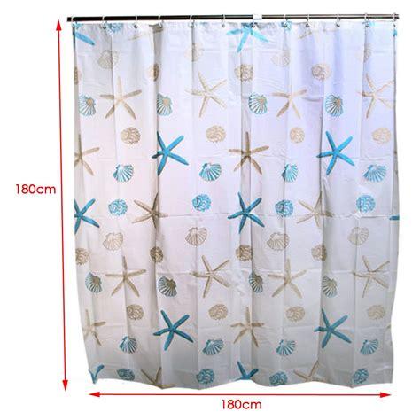 designer shower curtain hooks sea shell designer peva bathroom shower curtain with 12