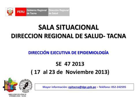 direccion regional de salud tacna noticias ppt sala situacional direccion regional de salud tacna